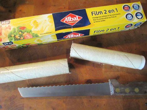 Film en plastique alimentaire 2 en 1