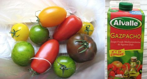 tomates et vinaigrette au gaspacho