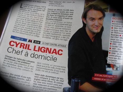 Interview Cyril Lignac dans Télé 7 Jours