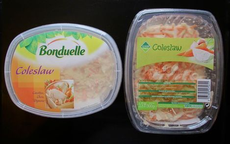 coleslaw Bonduelle vs Leader Price