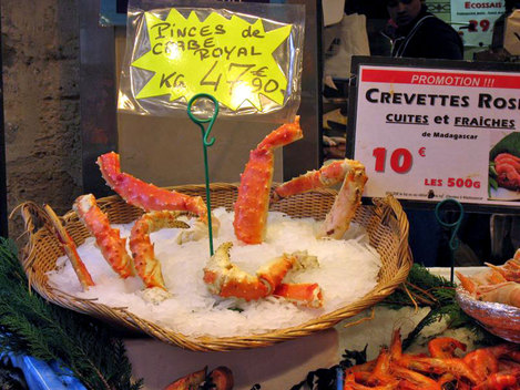 Crustacés d'exception : crabe royal et crevette géante...