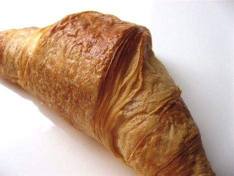 croissant sortant du four