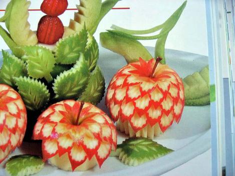 culinotests - ustensiles déco pour la sculpture des fruits et