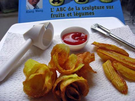 sculpture sur pommes de terre pour frites croustillantes