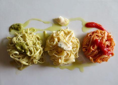 pâtes drapeau italien