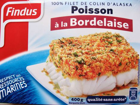 poisson Findus à la bordelaise
